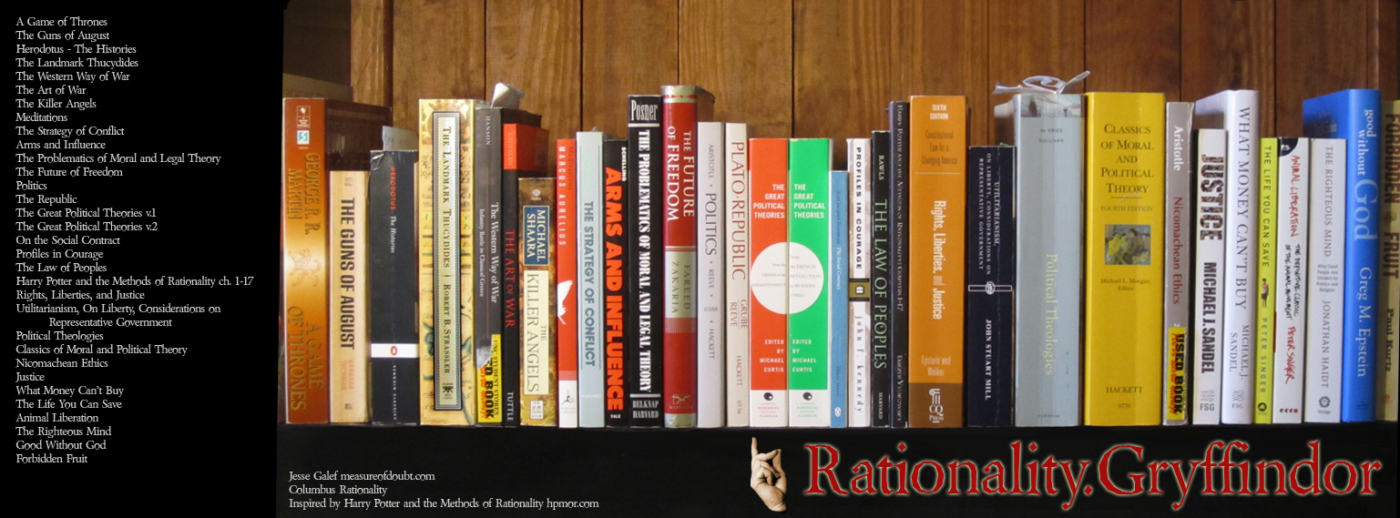 Harry Potter and the Methods of Rationality Bookshelves